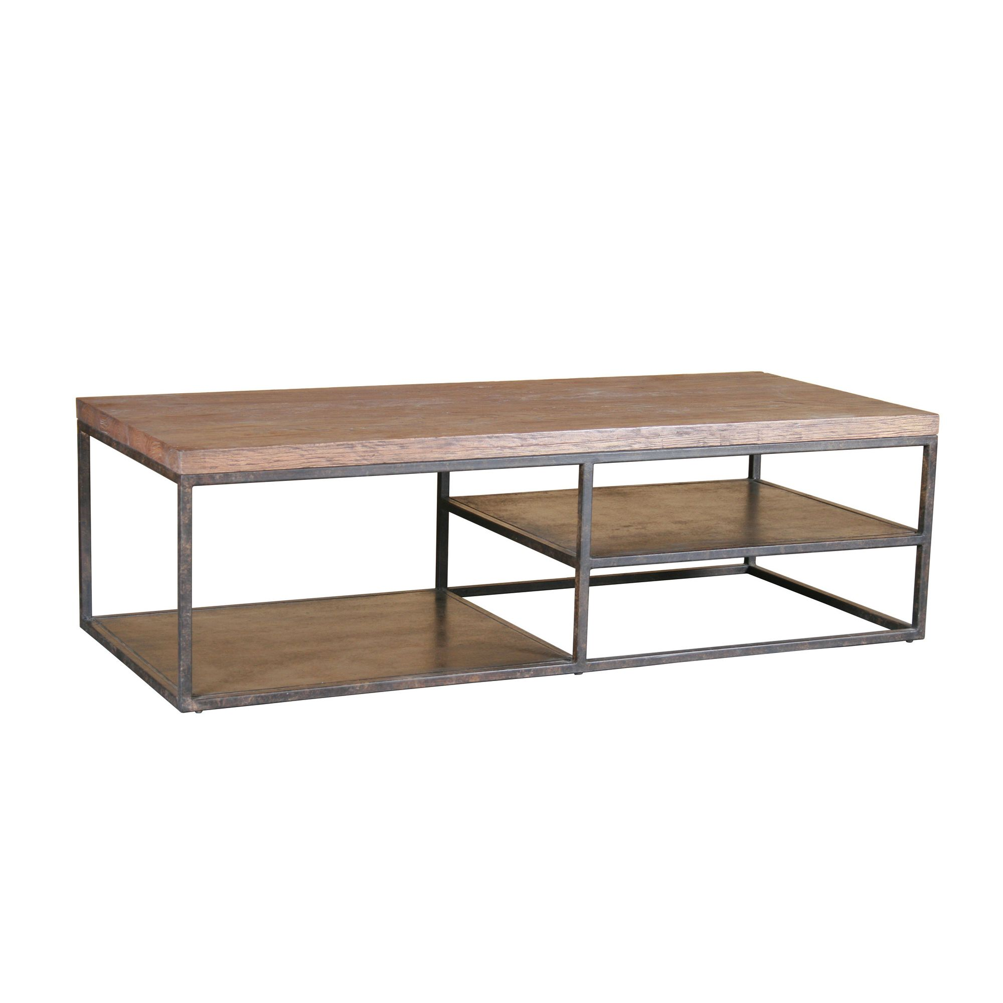 Katigi Designs Reclaimed Wood / Iron Coffee Table at Tesco Direct