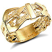 Jewelco London 9ct Solid Gold Buckle design Ring