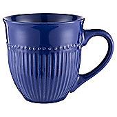 Tesco Navy Ribbed Mug Single