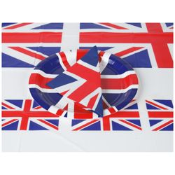 Union Jack 100 Person Disposable Paper Party Pack.