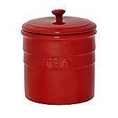 Linea Ceramic Maison Tea Jar In Red
