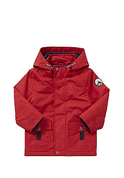 F&F Out In the Wild Badge Hooded Mac - Red