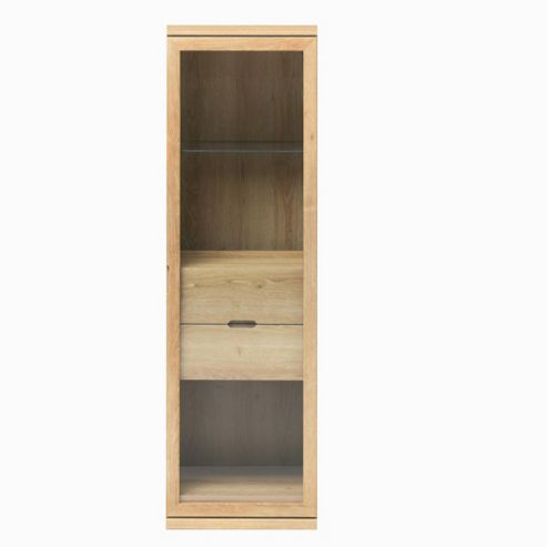 Caxton Darwin 1 Glazed Door Display Cabinet in Chestnut