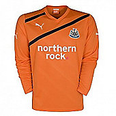 2011-12 Newcastle Away Long Sleeve Football Shirt - Orange