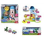 Peppa Pig's Theme Park Bundle - Helter Skelter And Train Ride 2 Items