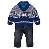 Fairisle Jumper, Jeans and T-Shirt Set