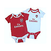 Arsenal Baby Core Kit 2 Pack Bodysuits - 2015/15 - Red & White