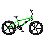 Rooster Big Daddy 20 BMX Green/Black with Skyway Mag Wheels