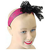 Bristol Novelty - 80's Lace Headband - Pink
