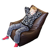 Ashcroft Indoor Bean Bag Kool Chair - Brown