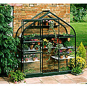 Halls 6x2 Supreme Greenframe Wall Greenhouse - Toughened Glass