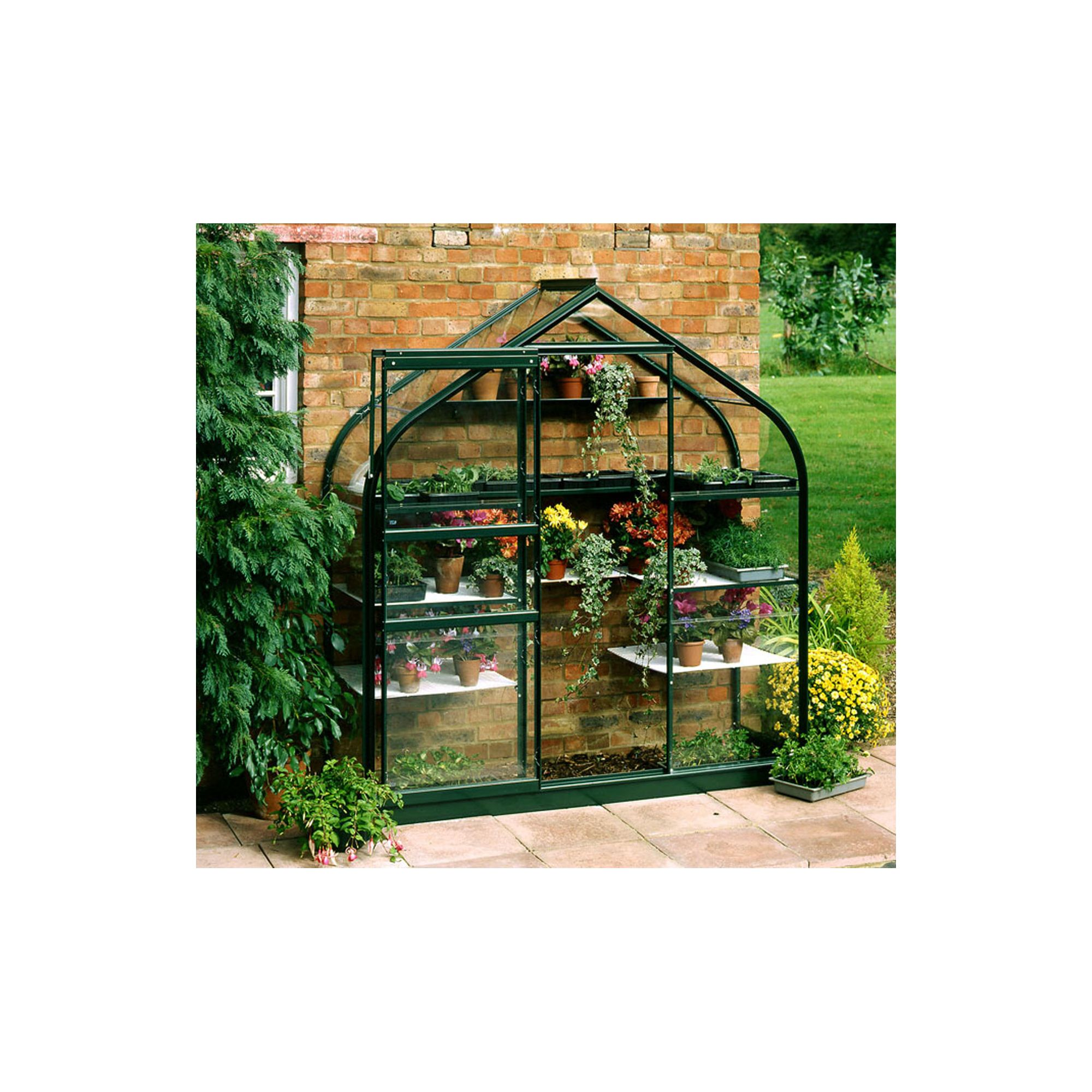 Halls 6x2 Supreme Greenframe Wall Greenhouse - Toughened Glass at Tesco Direct