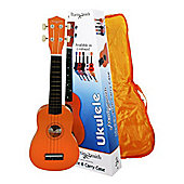 Martin Smith Standard Soprano Ukulele with Bag - Orange