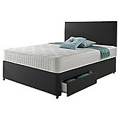 Rest Assured Memory 4 Drawer Super King Divan and Headboard Charcoal