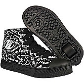 Heelys Hustle Heely Shoe - Black/White - Black