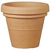 Terrastyle Classic Doppio Bordo Large Round Planter (Set of 2) - Light Brown