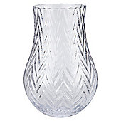 Cut Glass Vase 25cm