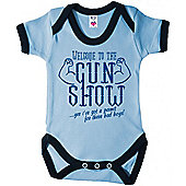 Dirty Fingers Welcome to the Gun Show Baby Trimmed Bodysuit