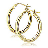 9ct Yellow Gold Oval Hoops Earring
