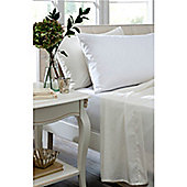 Catherine Lansfield Home 100% Cotton 200TC Egyptian King Bed Fitted Sheet White