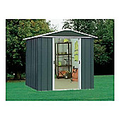 Yardmaster 6'1x4'1 Titan Metal Apex Shed with floor support frame