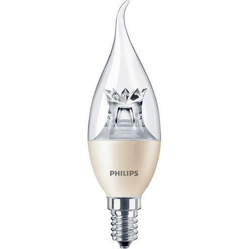 Buy Philips 6 40w Dimmable Clear Flame Tip Candle Led Bulb