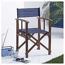 Folding Garden Directors Chair, Navy