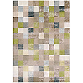 Angelo Pacific Green Water Knotted Rug - 240cm H x 170cm W (7 ft 10.5 in x 5 ft 7 in)