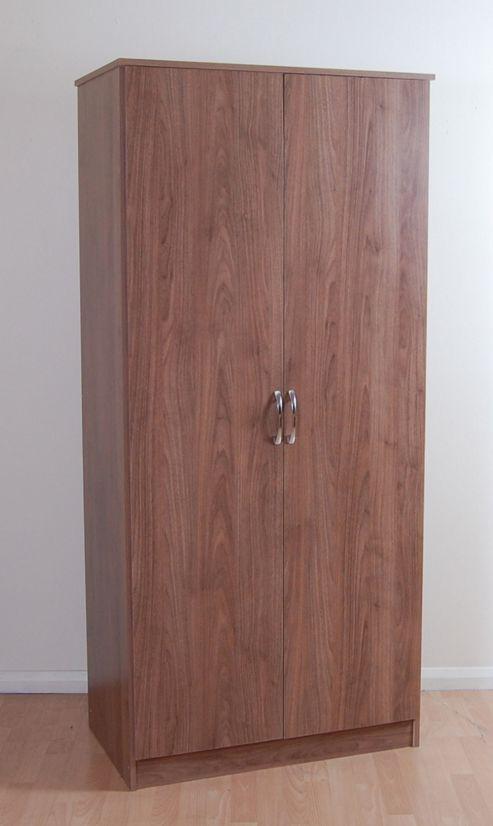 Kit Form Budget 2 Door Wardrobe - Walnut