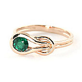 QP Jewellers 0.65ct Emerald San Francisco Ring in 14K Rose Gold