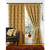 Victoria Tapestry Lined Curtains - Brown