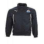 2013-14 Newcastle Puma Rain Jacket (Black) - Kids - Black