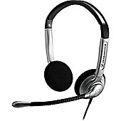 Sennheiser SH 350 Wired 46 mm Stereo Headset - Over-the-head - Supra-aural - Silver