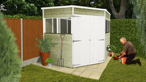 BillyOh 5000 7 x 7 Tongue & Groove Corner Shed
