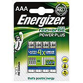 Energizer 850 mAh Rechargeable AAA Batteries - 4 Pack