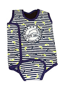 Jakabel 'Surfit' Baby Wrap - Dolphin Stripe Navy - Navy