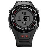 Garmin Approach S2 GPS Golf Watch (Black) in Black