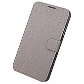 Tortoise™ Slimline Metallic Folio Flip Case with Built in Stand, Samsung Galaxy S5 ,Silver