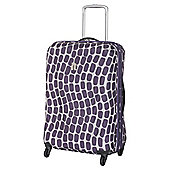 IT Luggage Frameless 4-Wheel Suitcase, Purple Wave Medium