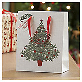 Christmas Tree Christmas Gift Bag, Medium
