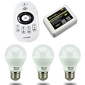 MiLight E27 6W Smart Light Starter Kit with Bridge, Remote and 3 Bulbs