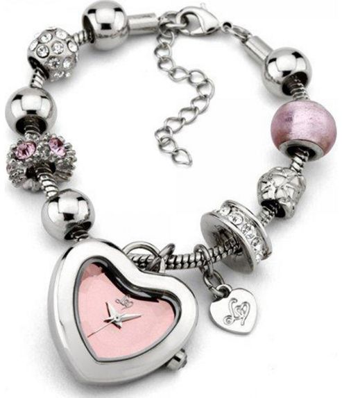 Lipsy Pink Charm Watch