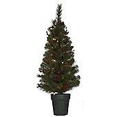 3.5ft Pre Lit Christmas Tree, Set of 2 (35 white LEDs per Tree)