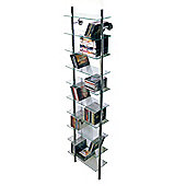 Techstyle Large Wall Mounted Glass and Chrome CD / Bathroom Storage Shelves