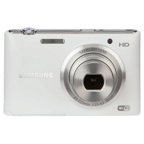Samsung ST150F Digital Camera, White, 16.3MP, 5x Optical Zoom, 3