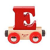 Bigjigs Rail Rail Name Letter E (Dark Red)