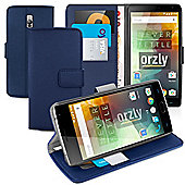 **Orzly** Multifunctional Wallet Stand Case for OnePlus Two - Dark Blue