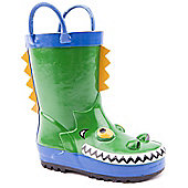 Brantano Boys Croc Green Wellington Boots - Green