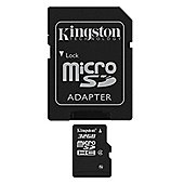 Kingston microSDHC 32GB Class 4 Card + SD Adapter