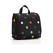Reisenthel Toiletbag in Black and Coloured Spots WH7009
